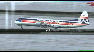 Returning to ADAK.-Lockheed L-188 Electra Reeve Aleutian Airlines FSX