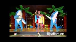 katy perry halftime show left shark