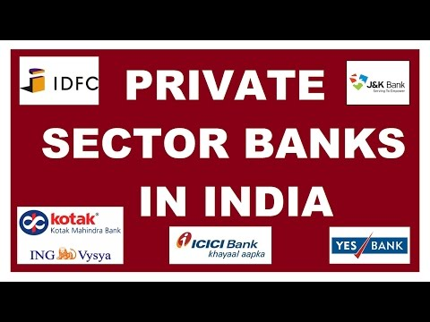 Private Sector Banks in Indian - Headquarter and Chairperson - GK for Banking, SSC, UPSC etc
