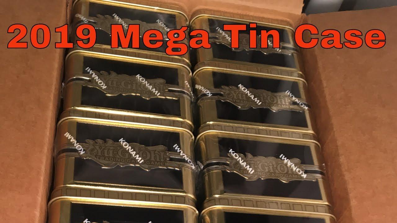 Yu-Gi-Oh! 2019 Mega-Tin Gold Sarcophagus Case Opening 12 Tins 36 Packs