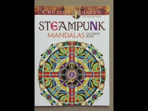 Creative Haven Steampunk Mandalas Coloring Book Flip Through