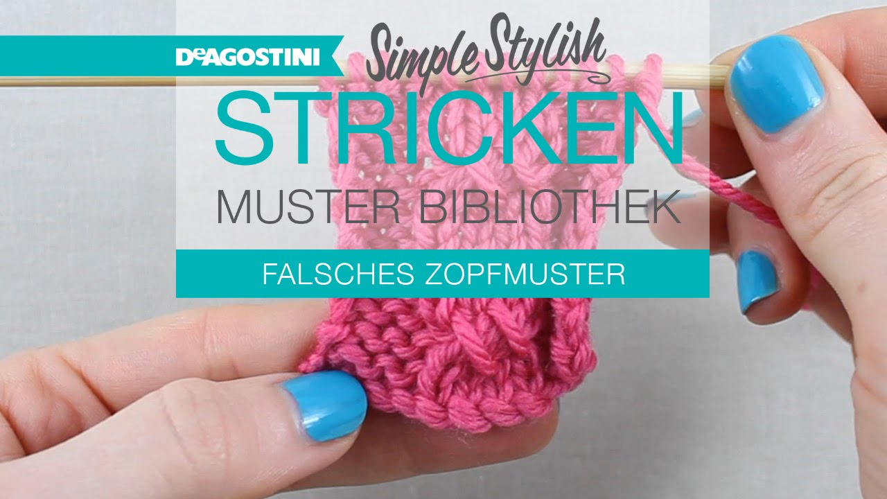 Simple Stylish Stricken Tutorial Musterbibliothek 62 Falsches