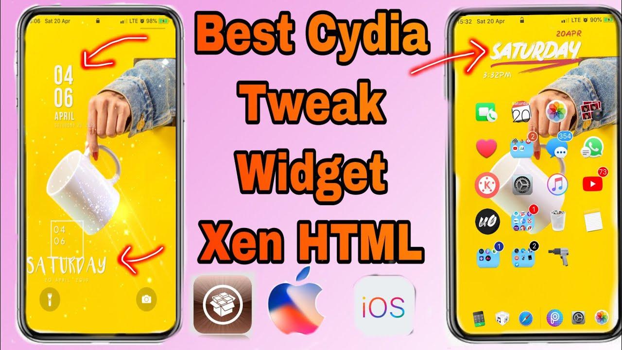 Best Cydia tweak ios 12 jailbreak iphone Widget Xen HTML