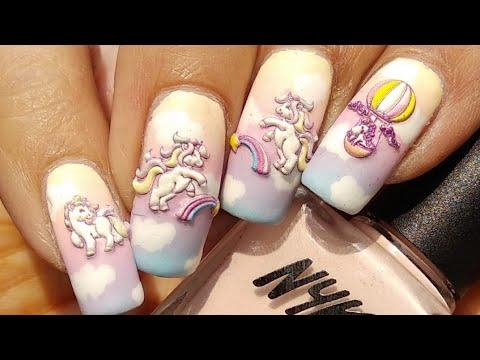 easy 3d unicorn nail art tutorial 🦄🦄🦄  youtube
