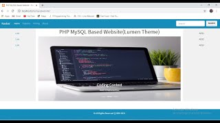 PHP MYSQL Based Website Adding a Bootstrap 4 Carousel - image slider into a PHP Web Page - Part 2