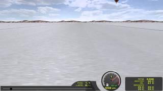 rFactor - Thrust SSC in Salt Flats, Amazing Speed!
