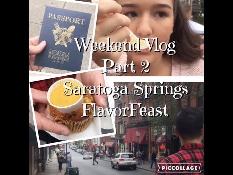 Saratoga Springs FlavorFEAST- weekend vlog part 2