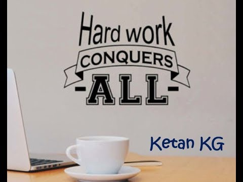 Hard work conquers all.. Hustle..!! Motivational