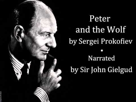 Peter and the Wolf  Sergei Prokofiev  Academy of London Orchestra  Narrated  John Gielgud