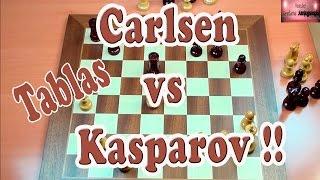 Magnus Carlsen vs Kasparov partida en tablas