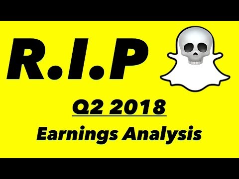 Snapchat Is Shrinking 💀 Q2 '18 Earnings Analysis