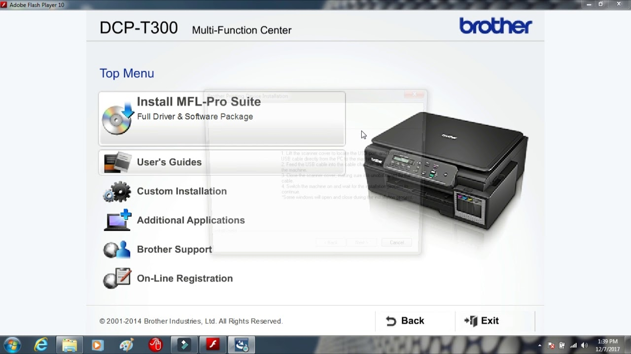 ($ How To Install Brother DCP-T300 Printer Driver || Software Installaction  in Hindi || (हिन्दी ) $)