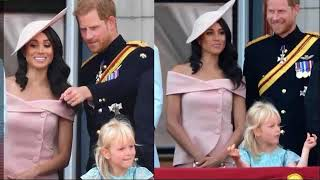Meghan Looks Relaxed On Buckingham Palace Balcony At Queen's Birthday Celebration