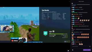 Shroud wins fortnite game with MINIGUN