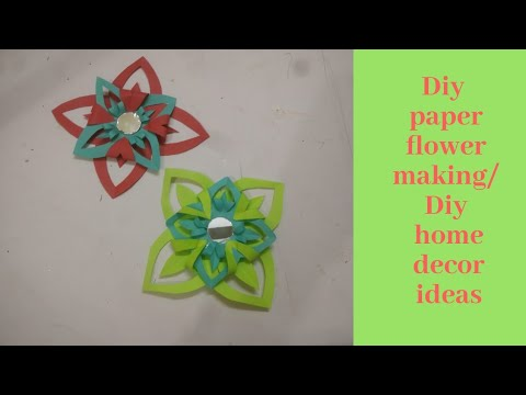 Home Decor Ideas || Ribbon Decoration for Gift || Paper Flower Making by Little Learners Corner