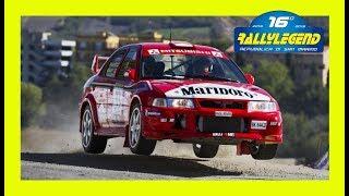 Rally legend san marino 2018 flames pure sound show delta subaru