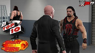 Top 10 Great Balls of Fire 2017 Moments - WWE 2K17.