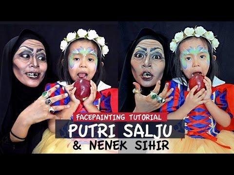Tutorial Face Painting Putri Salju dan Nenek Sihir