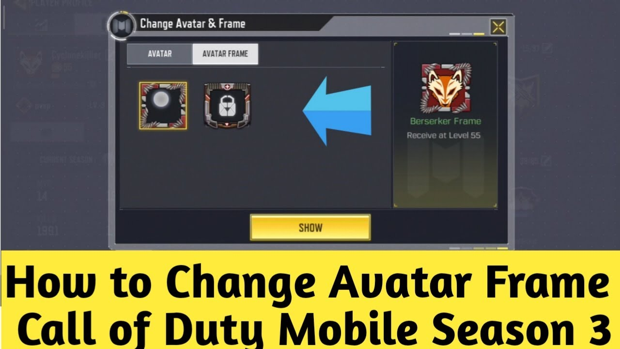 How To Get Free And Change Avatar Frame In Cod Mobile Season Call