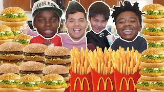 ENTIRE MCDONALD'S MENU IN 10 MIN CHALLENGE!