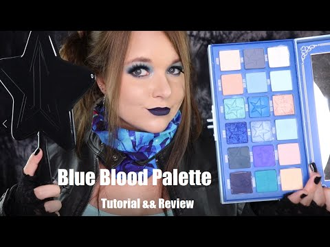 BLUE BLOOD 💙| Jeffree Star Cosmetics| ⚰️Tutorial && Review + First Impressions thumbnail