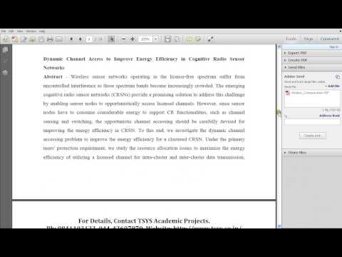 IEEE WIRELESS COMMUNICATION TOPICS 2016 - FINAL YEAR IEEE COMPUTER SCIENCE PROJECTS