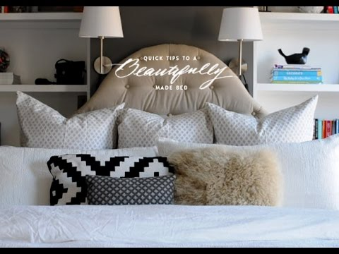 How to Make a Pretty Bed - YouTube