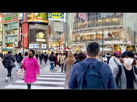 【4K】Tokyo Shibuya Walk under a state of emergency (Jan.2021)