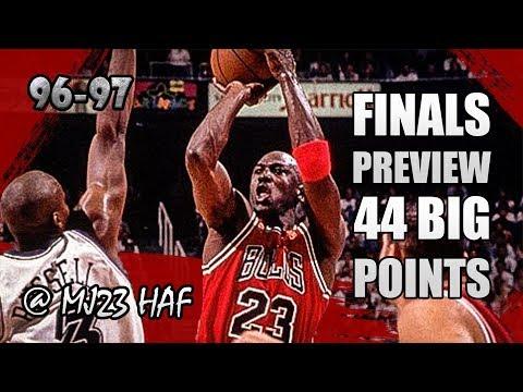 Michael Jordan Highlights vs Jazz (1996.11.23) - 44pts, CARRYING THE TEAM!