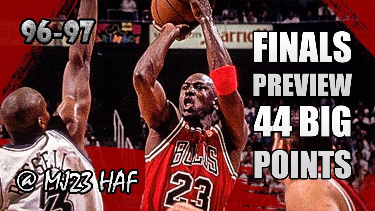 8556a9ad38f Michael Jordan Highlights vs Jazz (1996.11.23) - 44pts
