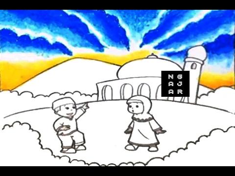 Mewarnai Awan Siang Biru Berarak Untuk Tk Sd Paud 3 Youtube