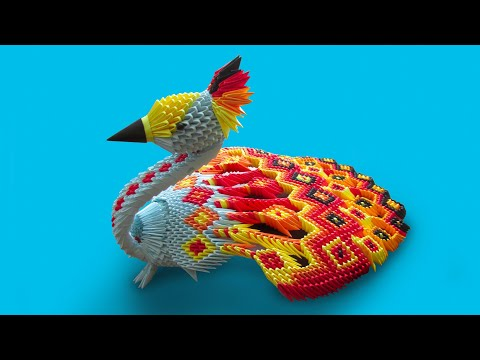 3D Origami Large Peacock Tutorial