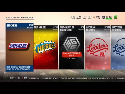 Madden 18 Ultimate Team New Snickers Solo Challenges - Information and Rewards