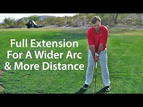 Golf Driver Tip – Extend Arms for Wider Arc and More Distance