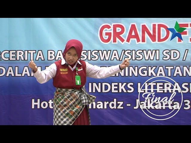 Juara III Aqila Nailatul Izzah dari Sulawesi Selatan  : Lomba Bercerita SD/MI Tingkat Nasional 2018