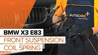 rear and front Coil springs installation BMW X3: video manual