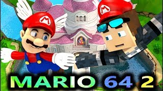 SUPER MARIO 64 VS MINECRAFT 2! (official) Mario Minecraft Animation Game Challenge