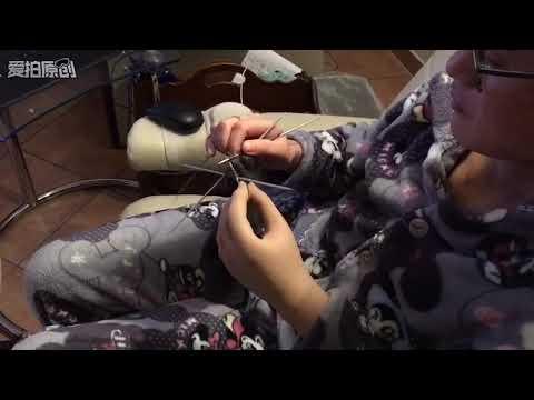 Youtube-Tutorial: Otto Bock Myo Prothese Socken stricken/ prosthesis finished one sock/ 智能假肢竟然完成了一只袜子