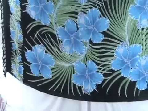 Buy Clothes In Bulk For Resale Tropical Blue Hibiscus Flower Sarong