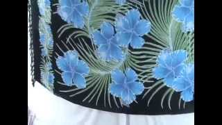Buy Clothes In Bulk For Resale Tropical Blue Hibiscus Flower Sarong Wholesalesarong.com