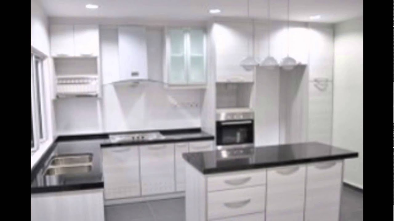 white-kitchen-cabinets-without-handles - YouTube