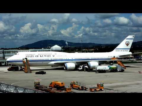 State of Kuwait 747-8 BBJ visit Salzburg Airport 9K-GAA