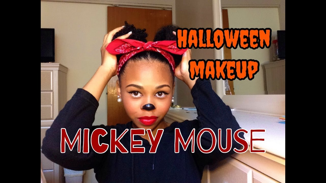 Mickey Mouse | Halloween Makeup Look #1 | CrySTYLE Beauty - YouTube