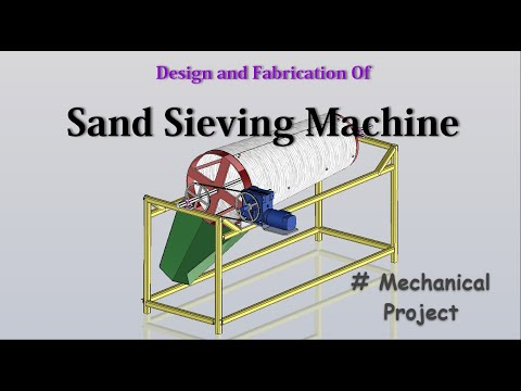 Sand Sieving machine   Sand Screening machine - Mechanical Project