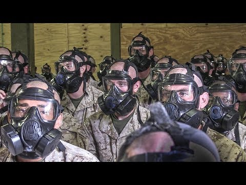Marine Corps Basic Training – Gas Mask & Gas Chamber Exercise