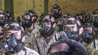 Marine Corps Basic Training – Gas Mask & Gas Chamber Exercise