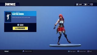 'NEW' ELECTRO SWING EMOTE ON SKINS (CALAMITY, FABLE, SUN STRIDER, JOHN WICK) - FORTNITE
