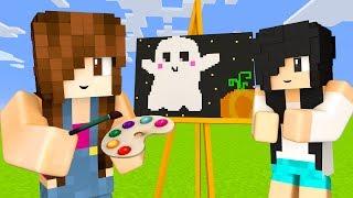 Minecraft Pixel Painters - DESENHANDO FANTASMINHA