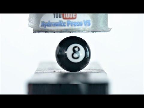 Pool Balls vs Hydraulic Press - 16 Billiard Balls