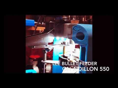 Lee bullet feeder on a Dillon 550 using a CNC adaptor bracket